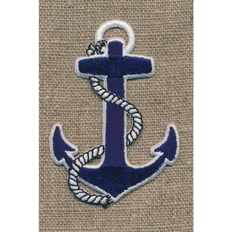 Strygemærke Sailor - anker i blå/hvid