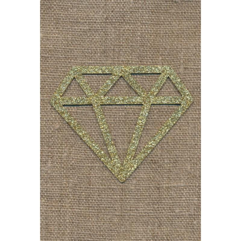 Strygemærke m/Diamant, guld-33