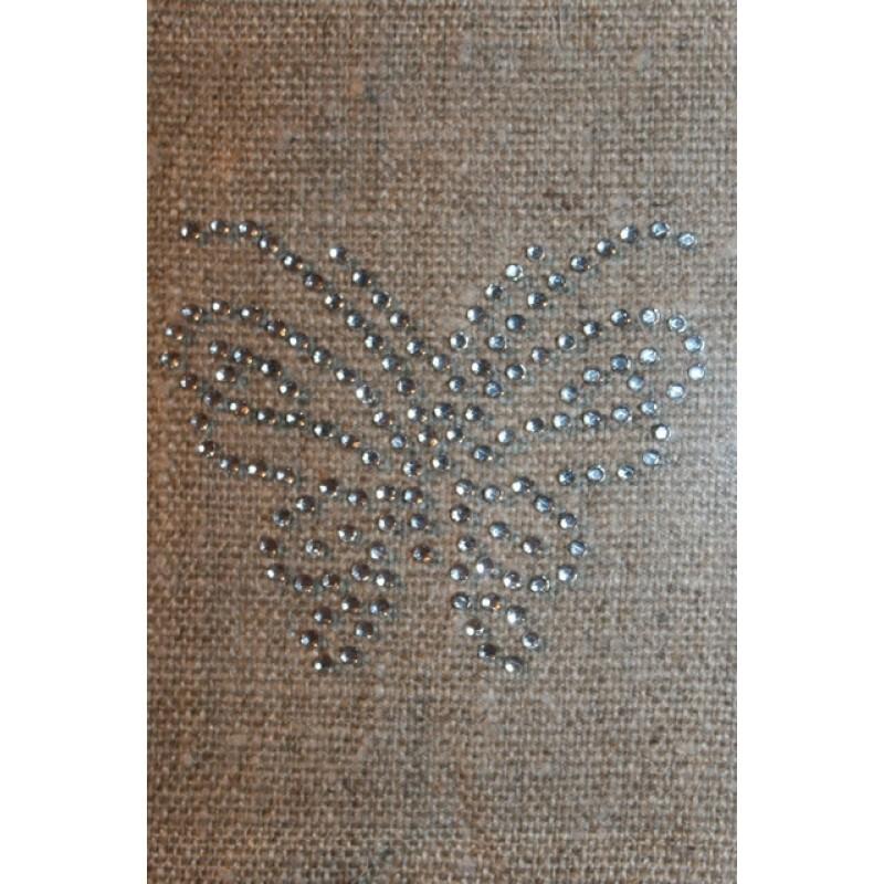 Strygemærke med sommerfugl i similisten-36