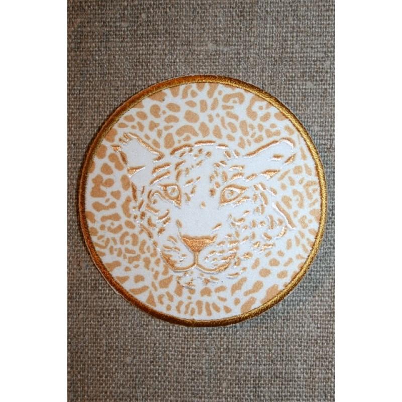 Rundt strygemærke leopard-36