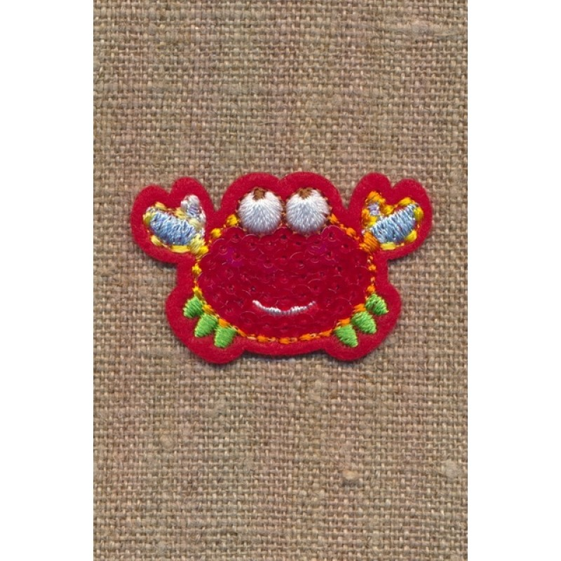 Strygemærke med krabbe i rød-36