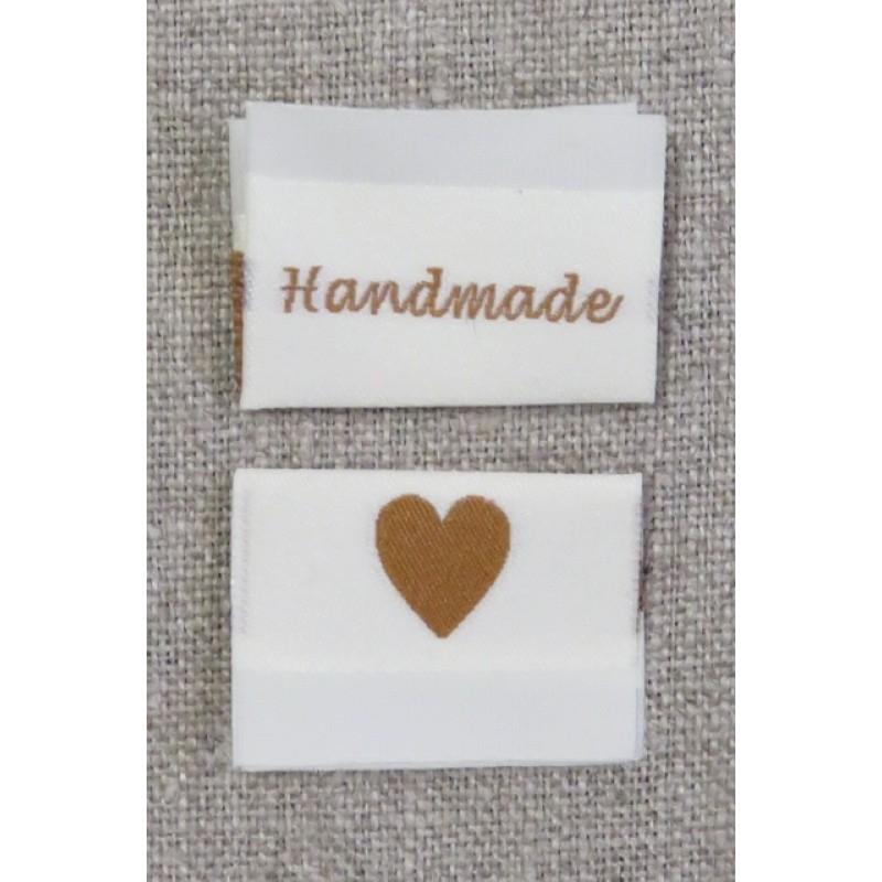 """Offwhite mærke """"Handmade/hjerte""""-32"""
