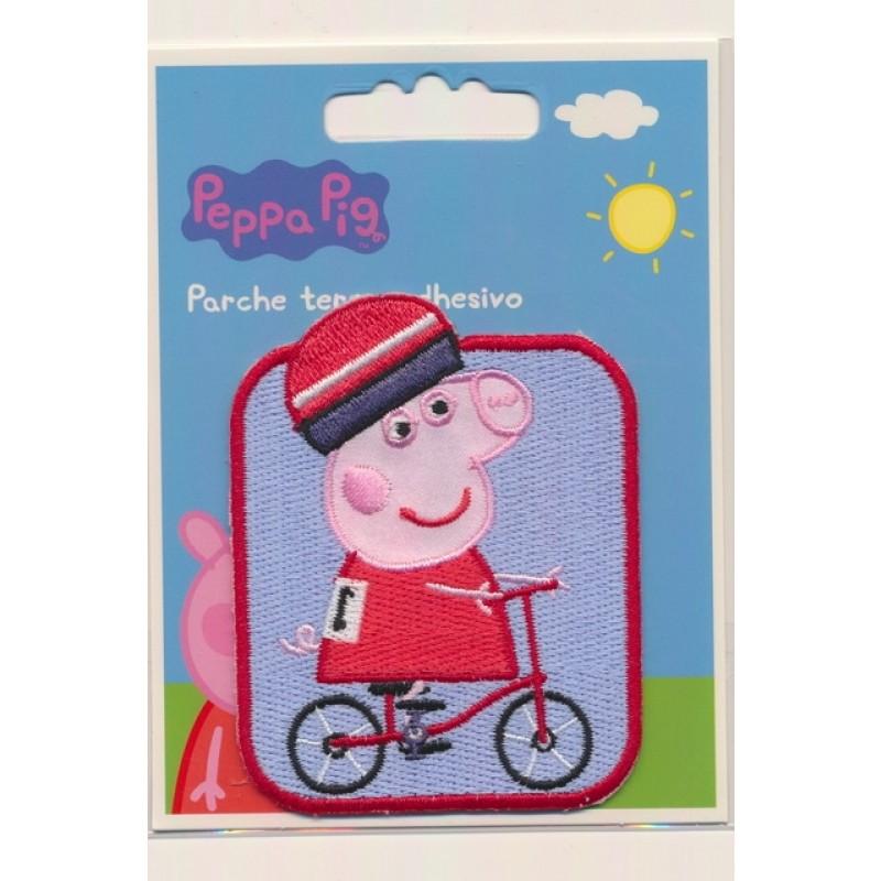 Strygemærke med Gurli Gris med cykel-310