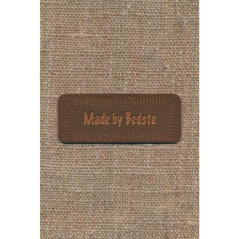 """Motiv i læderlook i brun """"Made by Bedste""""-33"""
