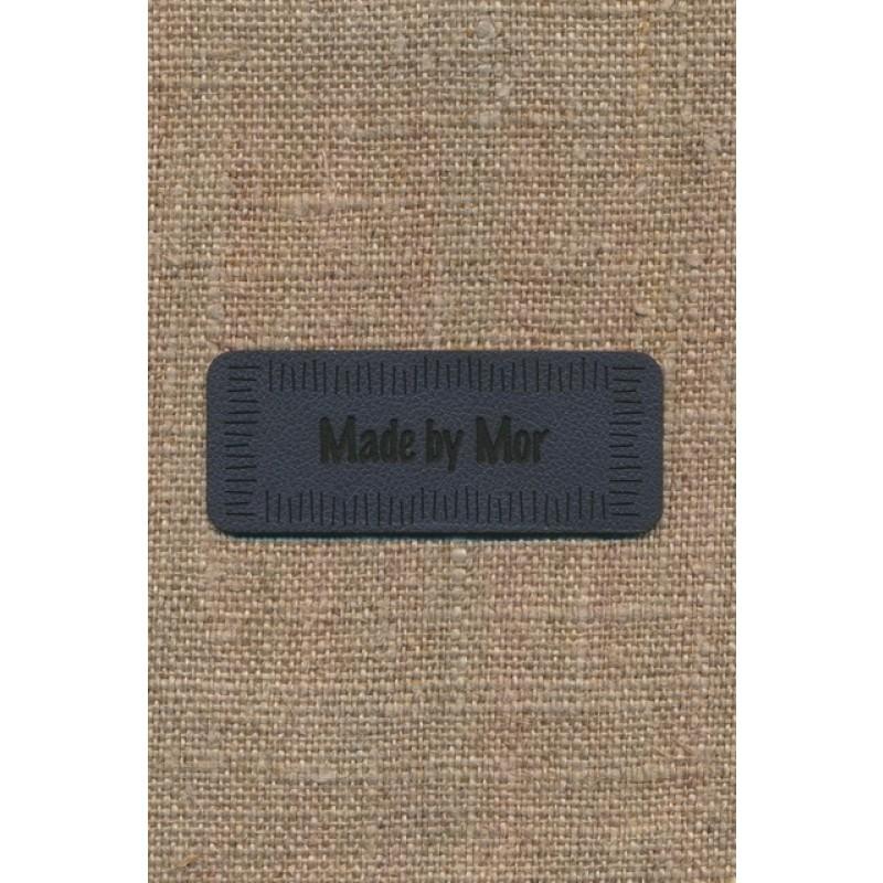 "Motiv i læderlook i grå ""Made by Mor""-35"