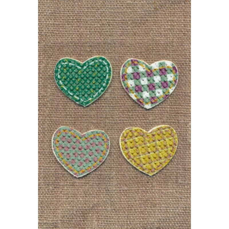Strygemærke med 4 hjerter