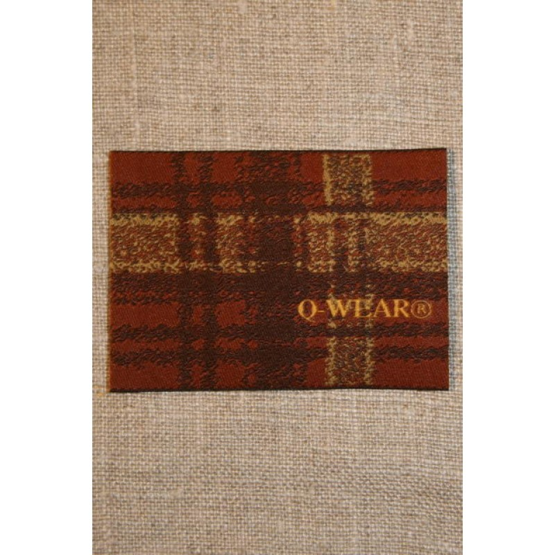 Mærke ternet Q-wear, brun-31