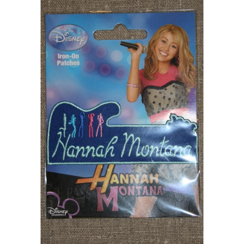 Strygemærke Hannah Montana, navn blå-33