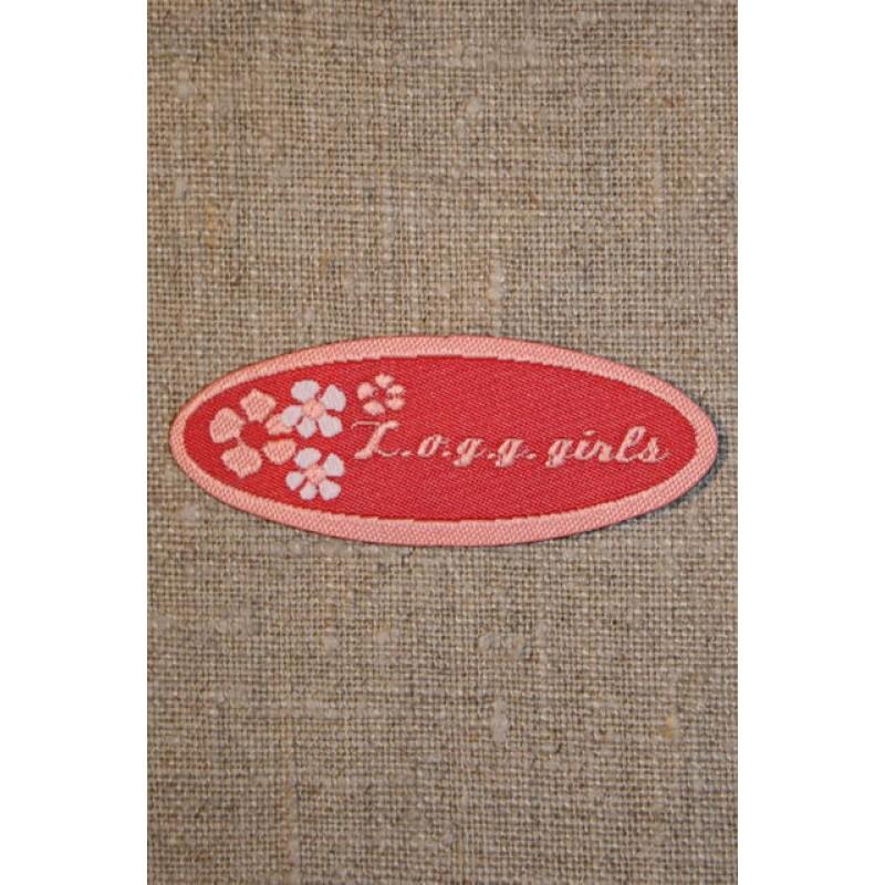 Rød/lyserød logg girls-33