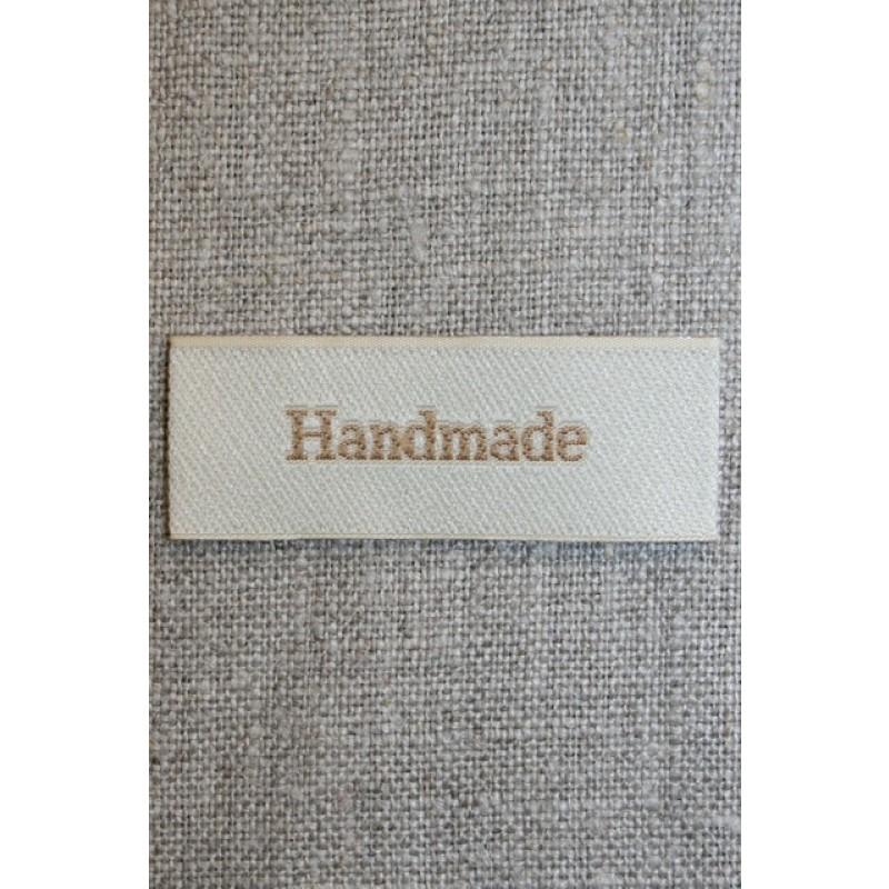 """Beige mærke """"Handmade"""""""