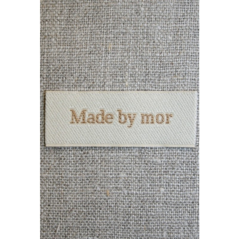 """Beige mærke """"Made by mor""""-31"""