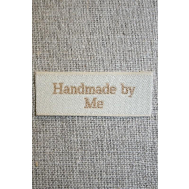 """Beige mærke """"Handmade by me"""""""