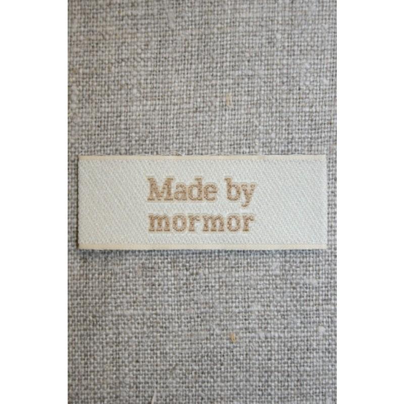 """Beige mærke """"Made by mormor""""-31"""