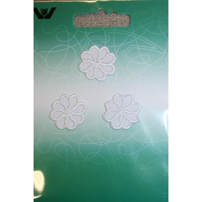 3 små blomster, hvid-31