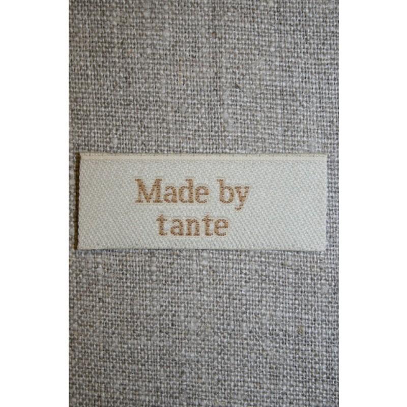 """Beige mærke """"Made by tante""""-33"""