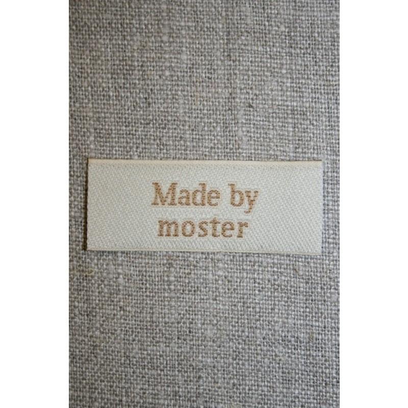 """Beige mærke """"Made by moster""""-31"""