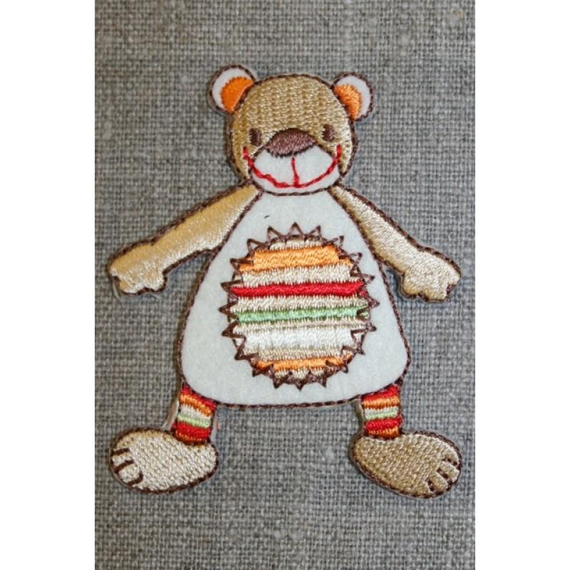 Mærke sjov bjørn, beige/off-white/orange-31