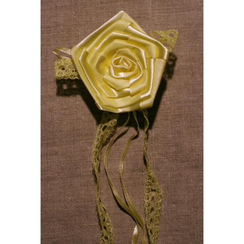 Broche Lysegul satin rose