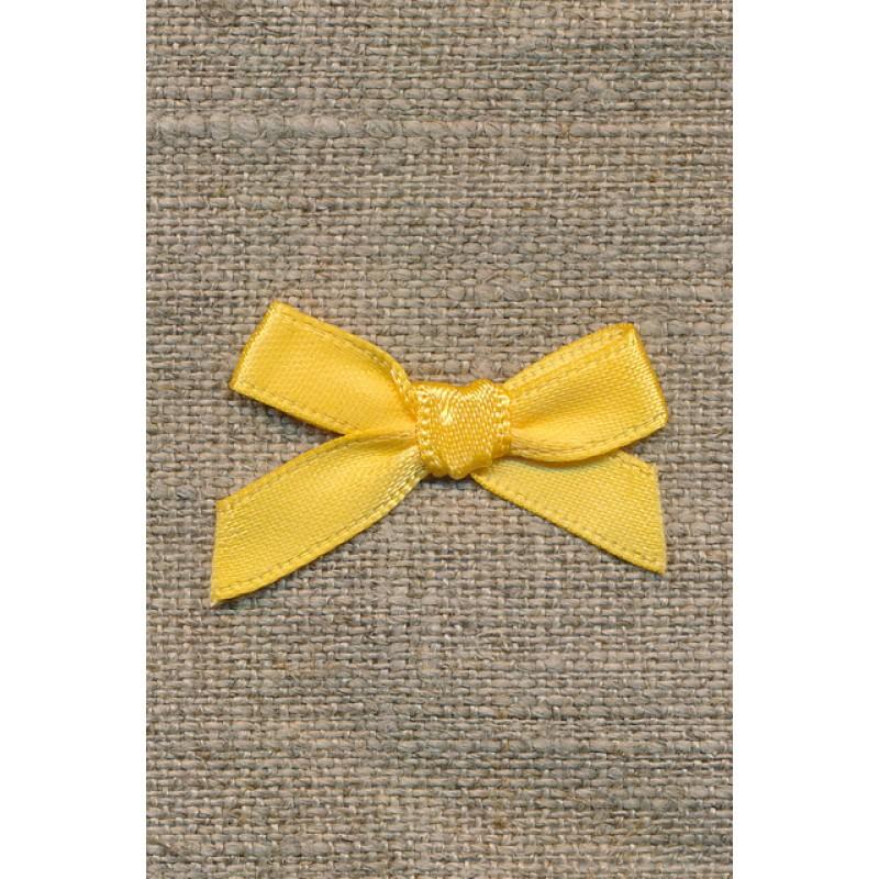 Satin sløjfe gul-31
