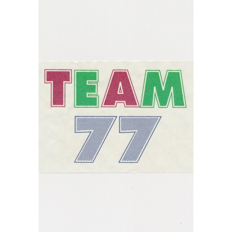 "Transfer/strygemærke ""Team 77""-33"