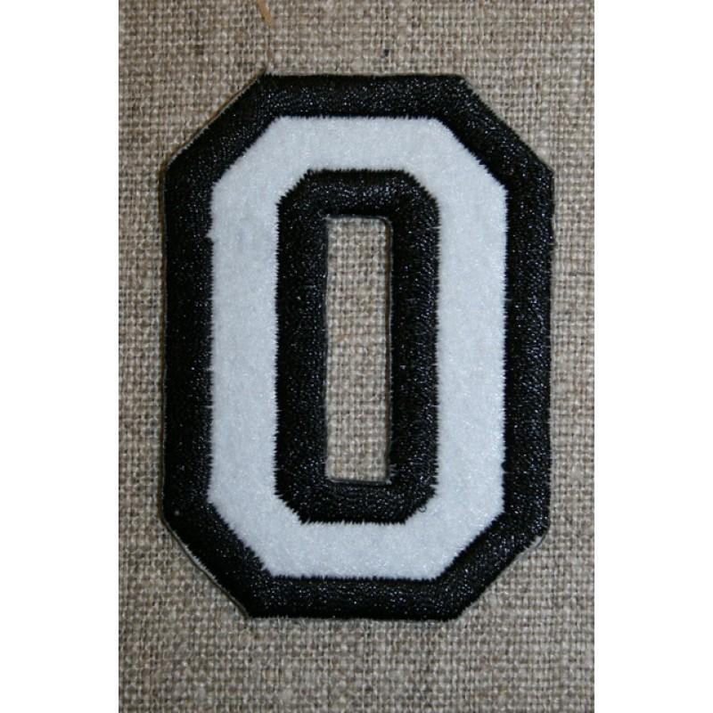 Strygemærke m/tal sort/hvid, 0-33
