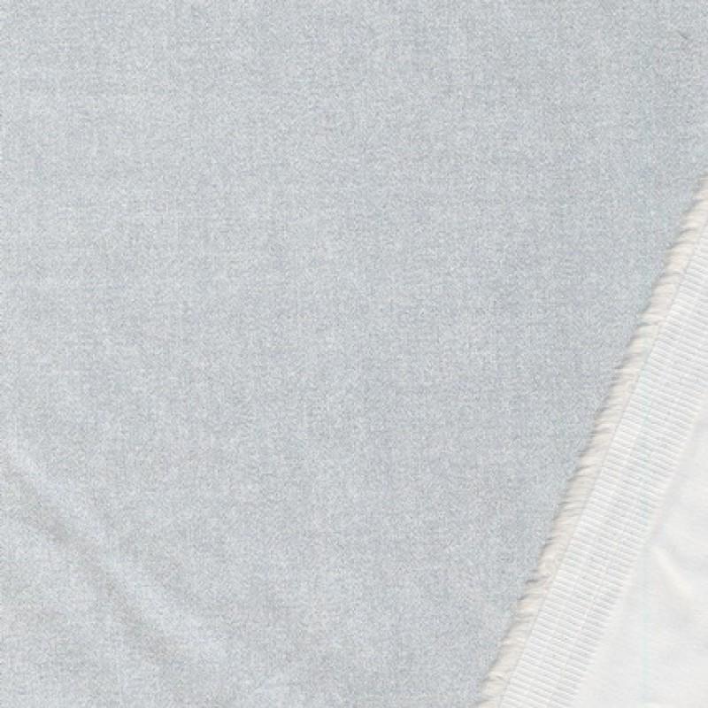 Elastisk bomuld m/glimmer, off-white/sølv