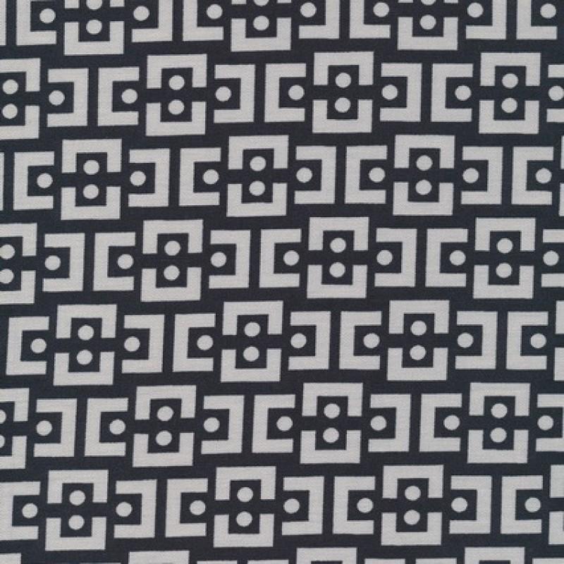 "Rest Bengalin m/""kæde-mønster""sort/lysegrå, 95 cm.-33"