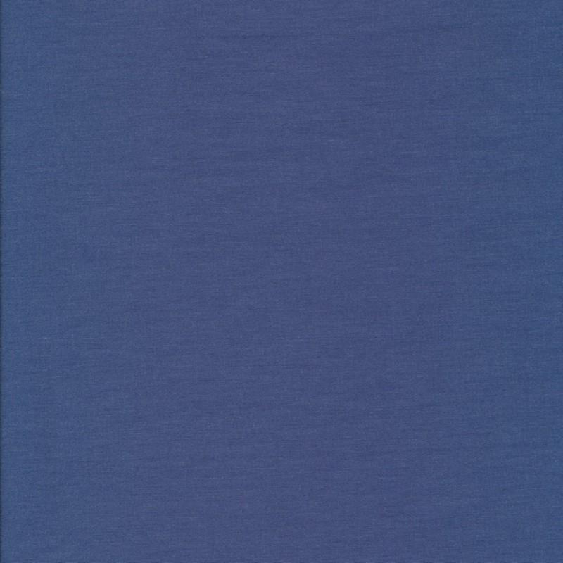 Rest Bengalin denim-blå meleret 100 cm.-33
