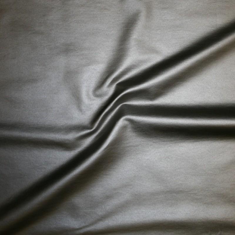 Bengalin/buksestof coated i læder-look sølv-39
