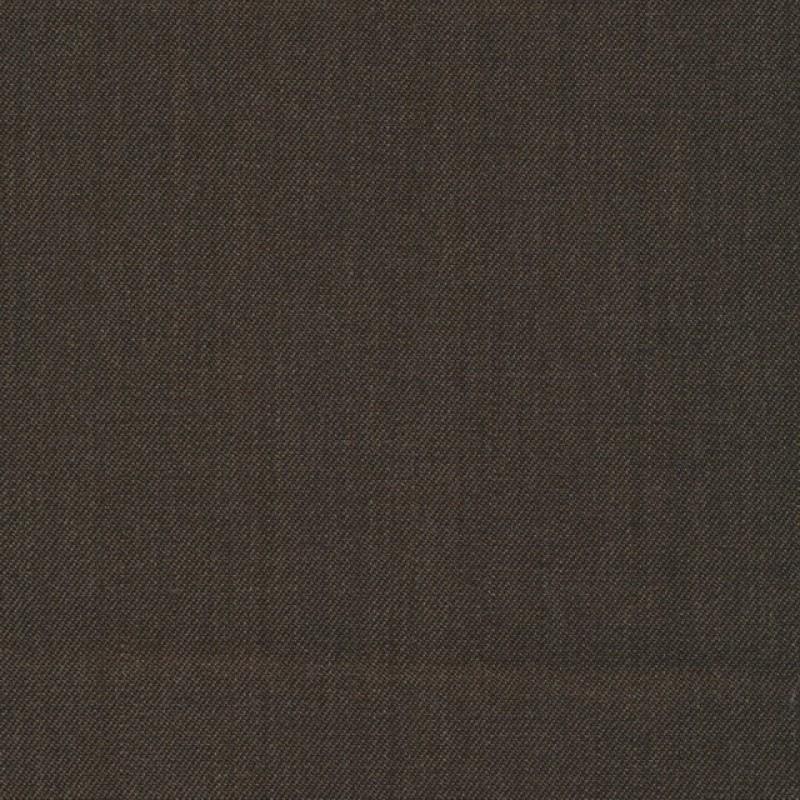 Uld/polyester m/stræk mørke gråbrun-36