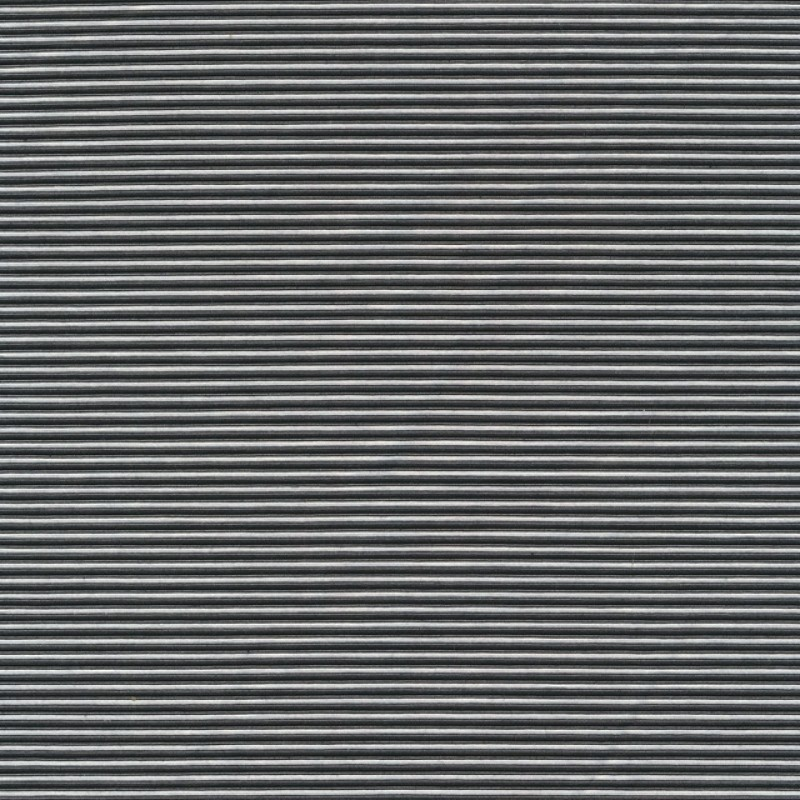 Kraftig bomuld/polyester stribet i sort og hvid-32
