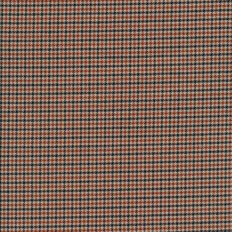 Buksestof i pipita tern i beige, sort og rust-36