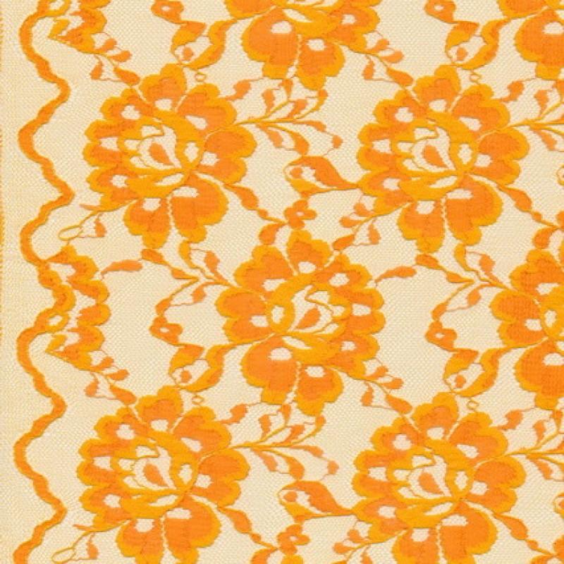 Blonde viscose/polyester m/buet kant, orange-33