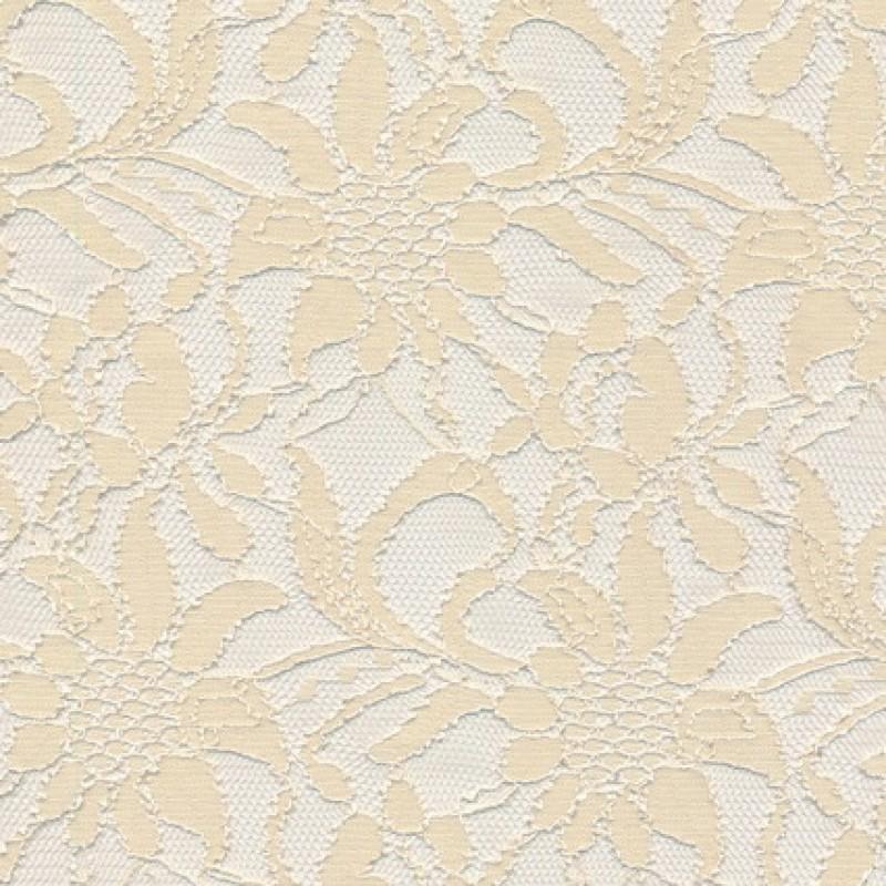 Strækblonde off-white metervare i polyamid polyester elasthan-33