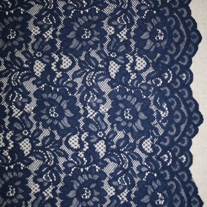 91ab31043 Blonde med buet kant, mørkeblå