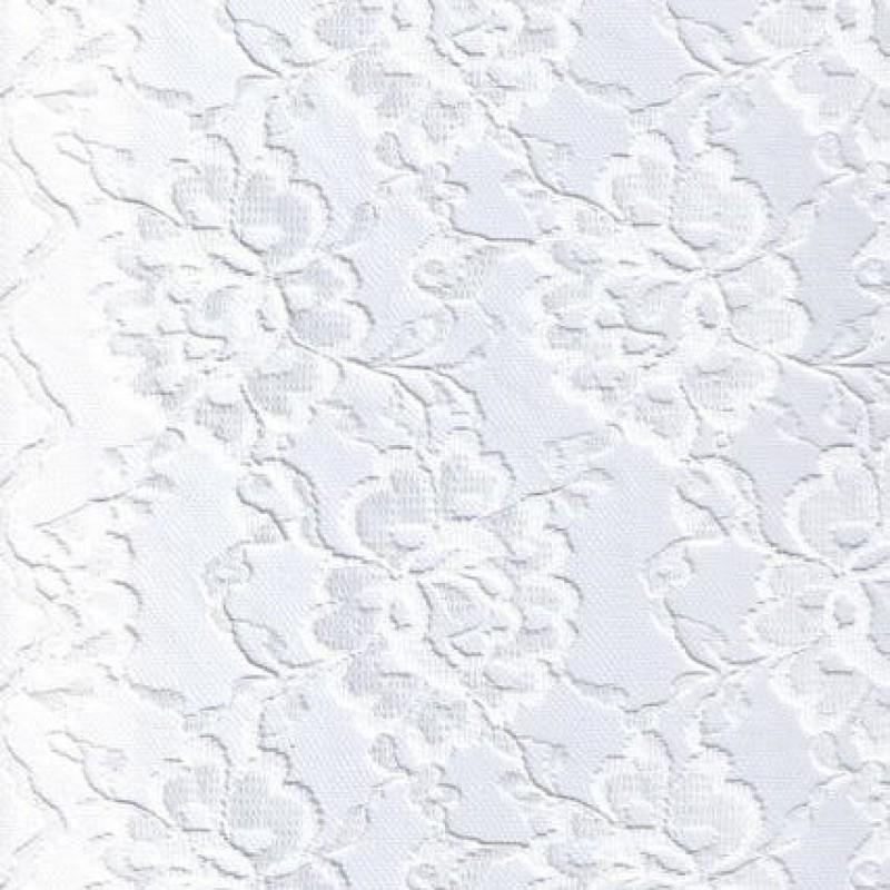 Blonde viscose/polyester m/buet kant, hvid-31
