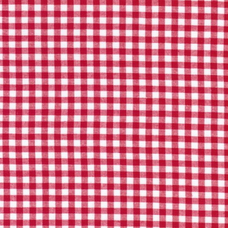 Bomuld ternet hvid/rød 5x5 mm.-31