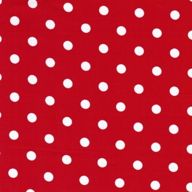 Rest Bomuld m/hvide prikker, rød-1.5 mtr.-31