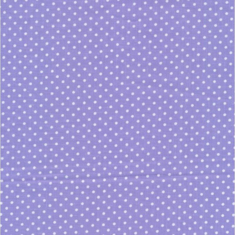 Bomuld m/hvide små prikker, lyselilla-35