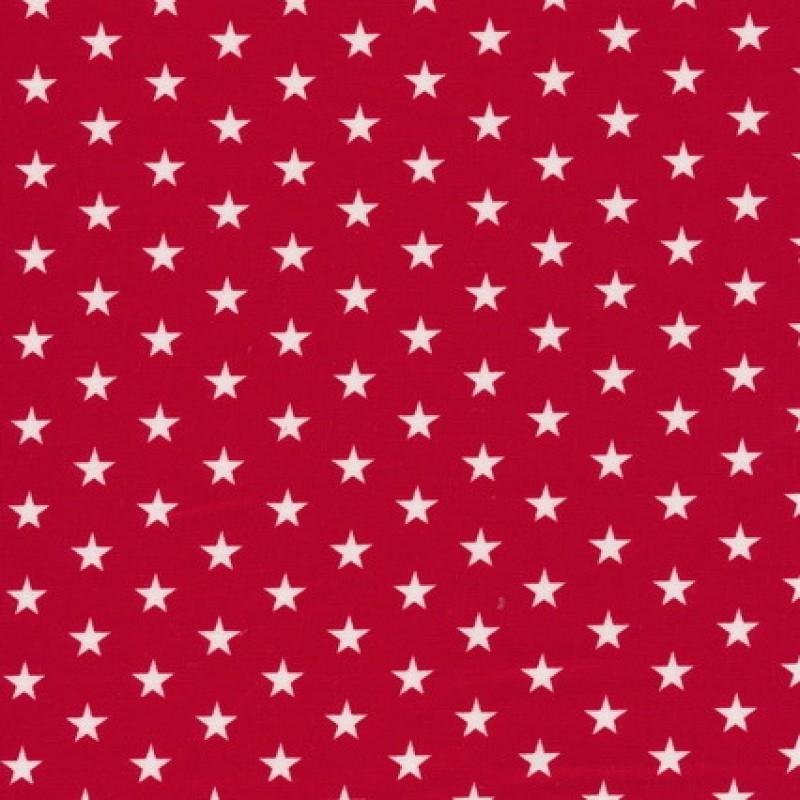 Bomuld m/stjerner, rød/hvid-31
