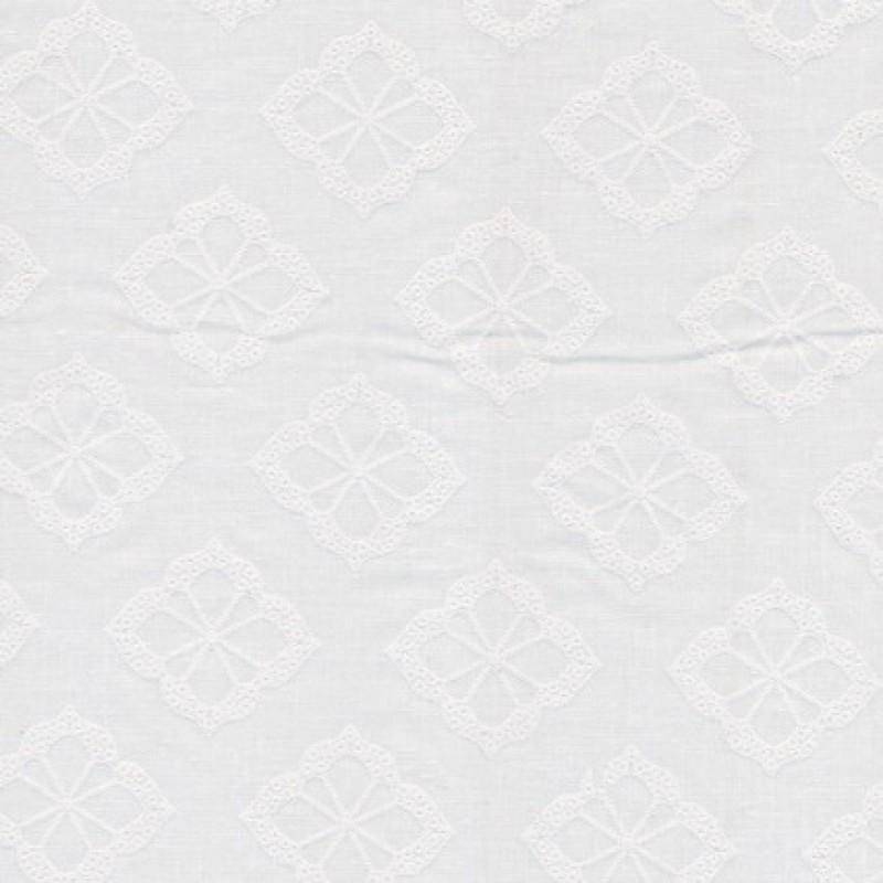 Hvid bomulds-voil m/blomster-35