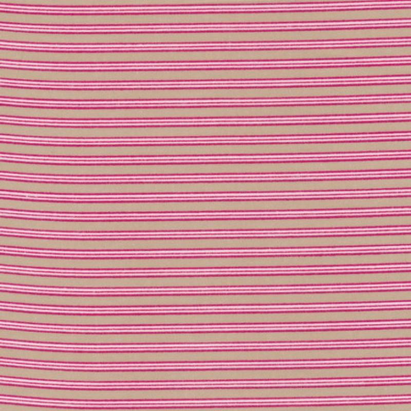 Stribet bomuld beige/pink/hvid-35