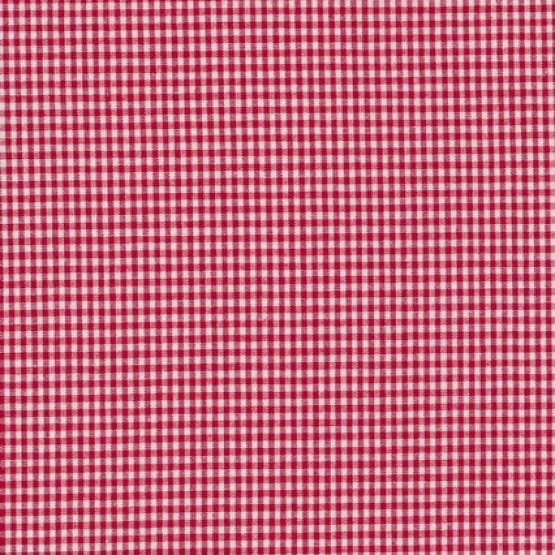 Små-ternet bomuld rød/hvid-33
