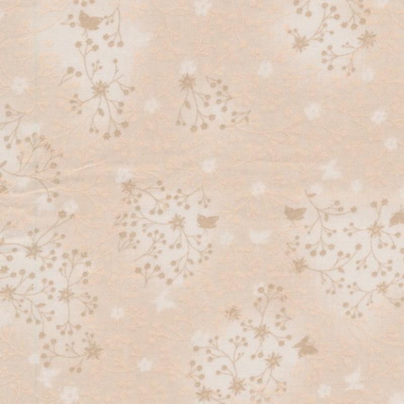Bomuld m/blad-skærme creme-33