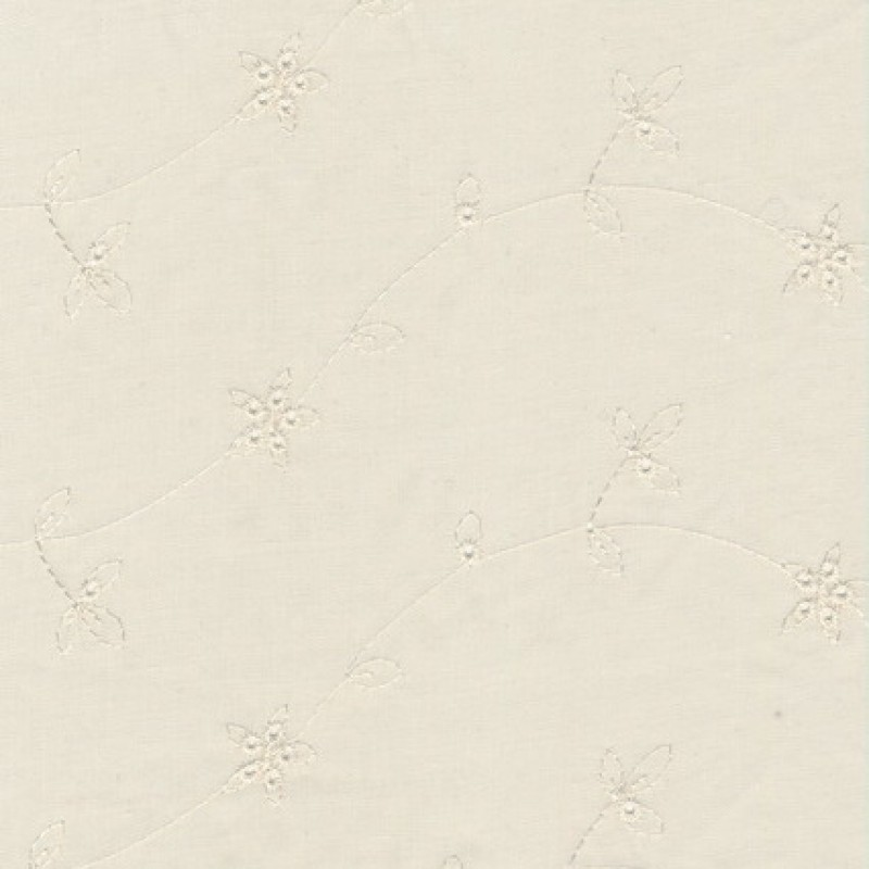 Rest Off-white bomuld m/broderi, 35 cm.-35