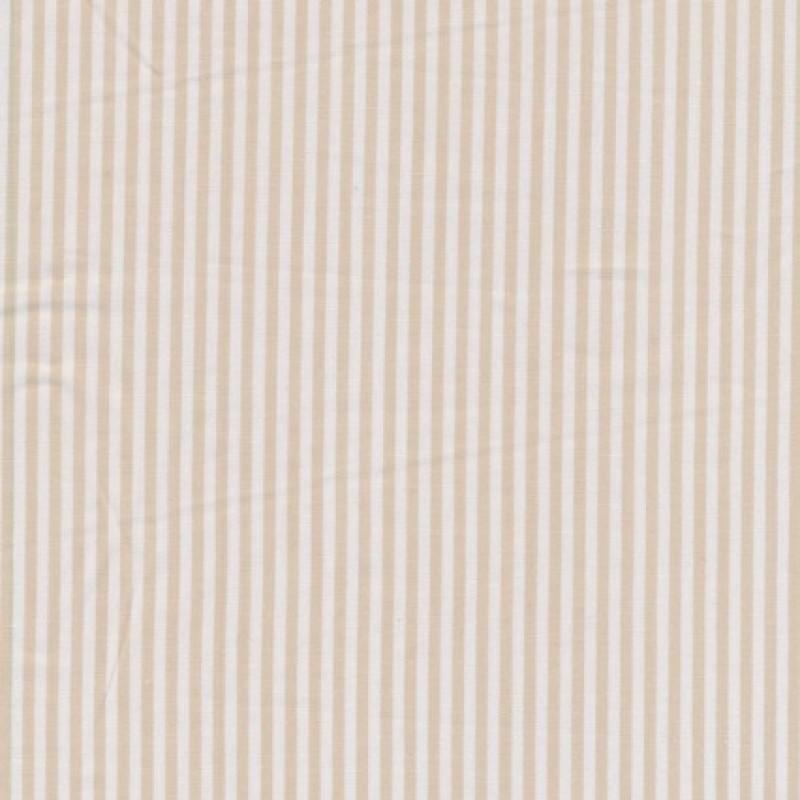 Bomuld stribet hvid/beige-35