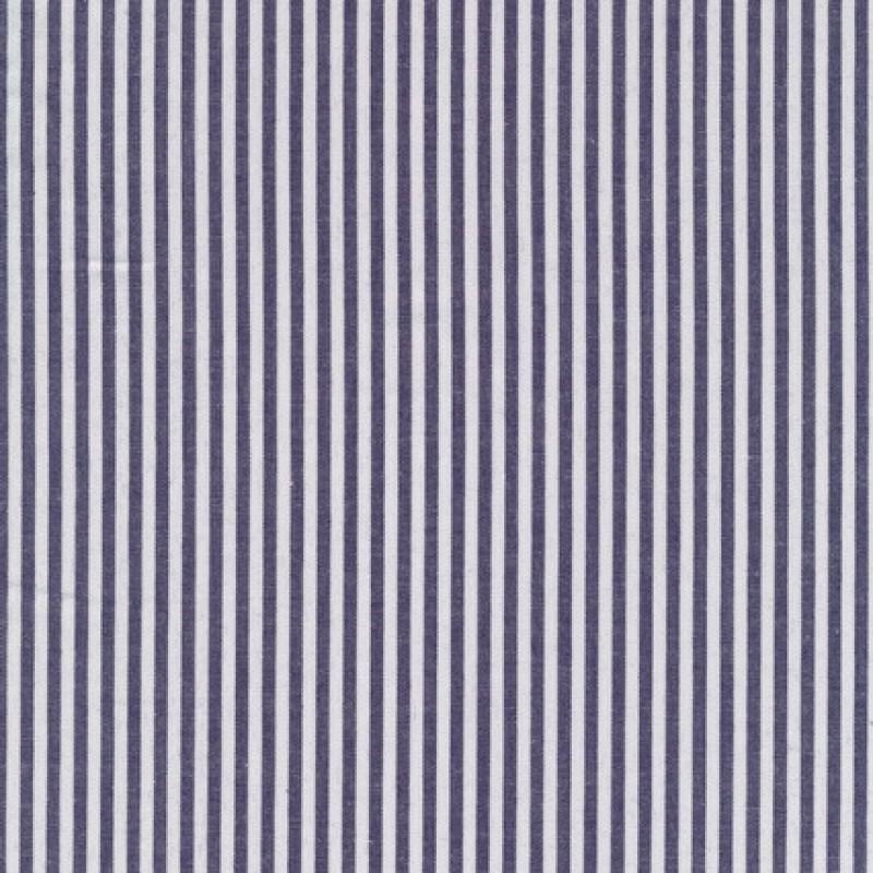 Bomuld stribet hvid/mørkeblå-35