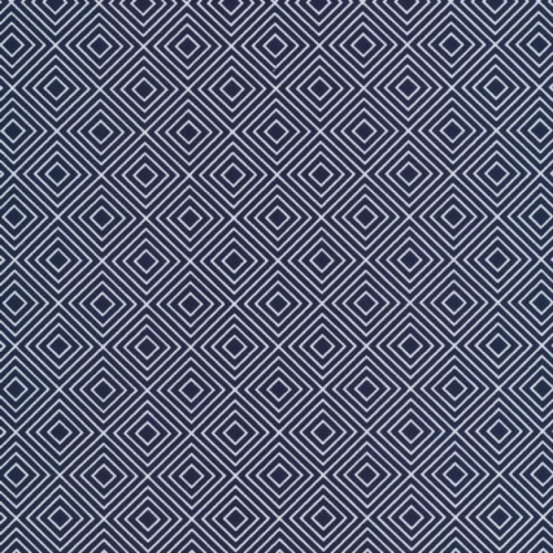 Rest Bomulds-poplin m/rude-mønster, mørkeblå, 65 cm.-33