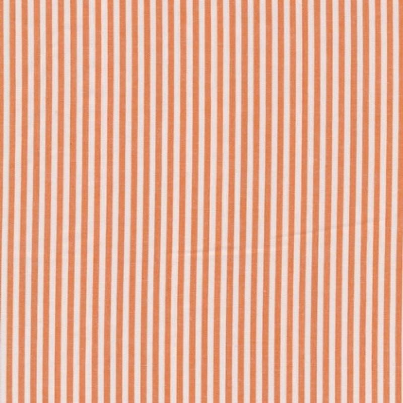 Bomuld stribet hvid/orange-35