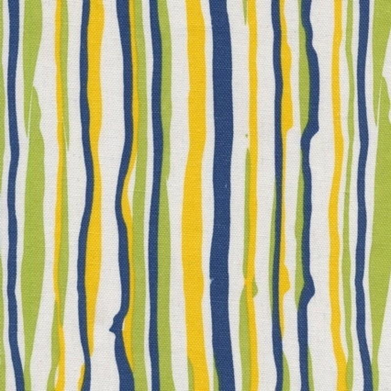 Kanvas m/brudte striber hvid/blå/lime/gul-31